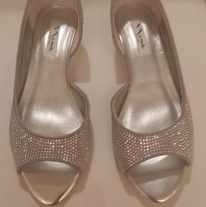 Sparkling Silver Wedges